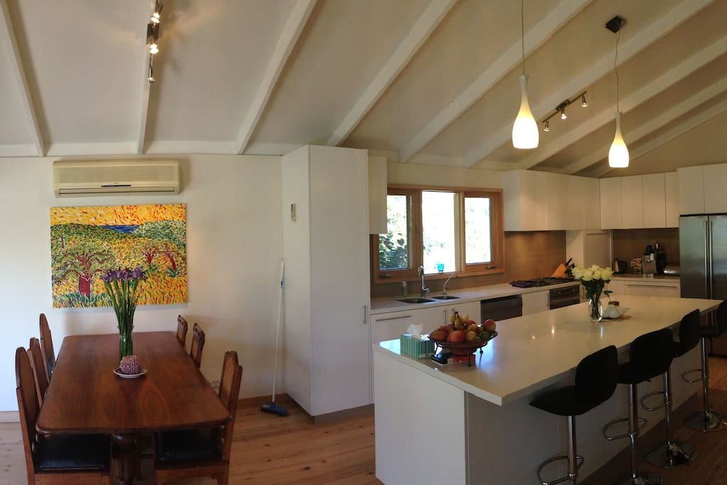Upstairs Open dining and Kitchen area