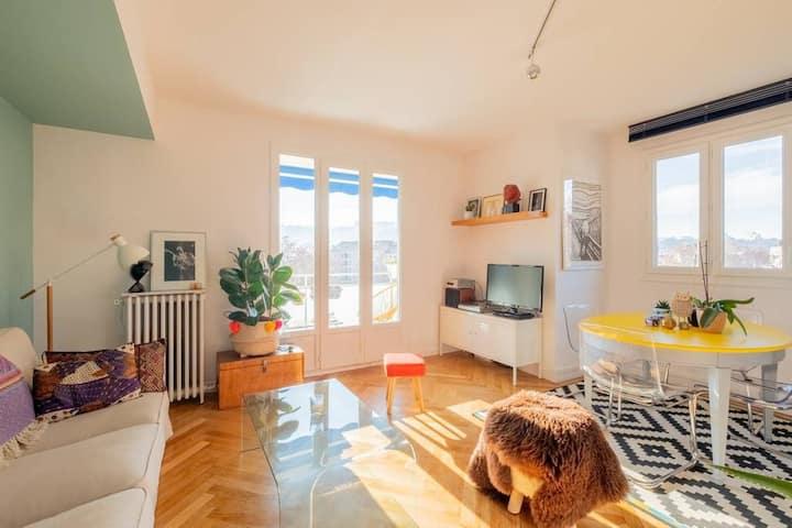Charmant appartement vue sur la Saône et Fourvière
