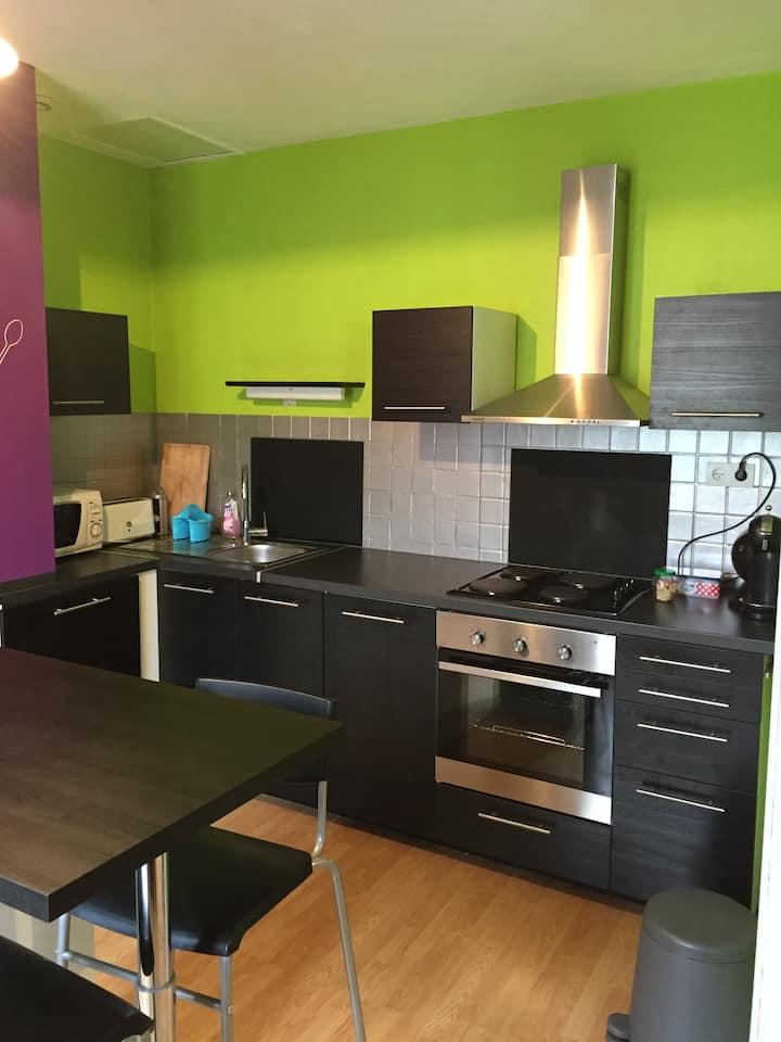 Centre ville: Appartement f2 pour ironman