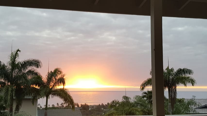 You may enjoy the sunset from your private lanai...   (times of the year alter)