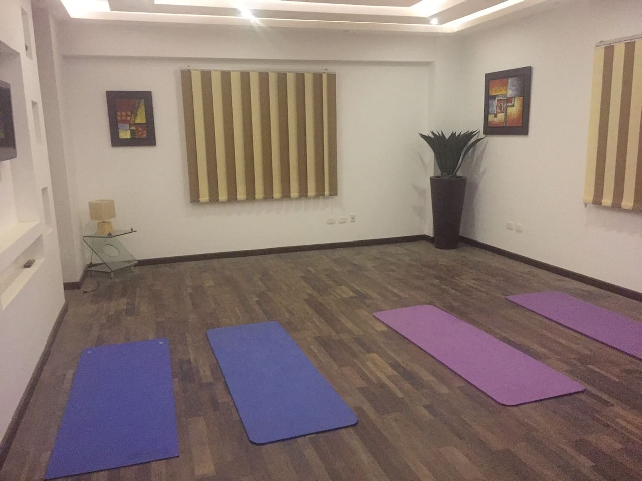 Sometimes we host Yoga classes