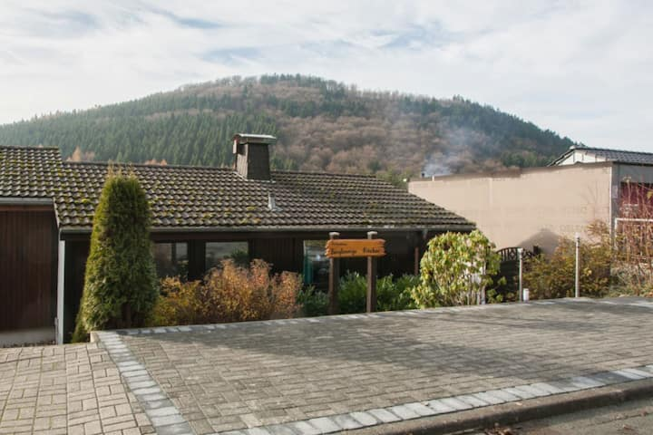 Stylish holiday home near Winterberg with private sauna house, terrace and garden