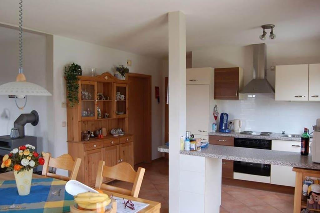 Eeethoek en keuken