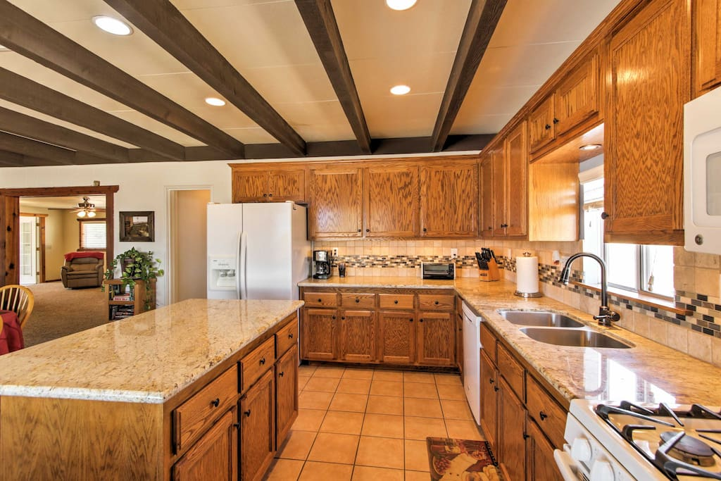 Fully equipped, the kitchen is prepared to handle any of your home-cooking needs!