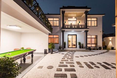 Suzhou Taihu Xishan Island/Pool Homestay/Group building/Party/BBQ/Picking/Invoiceable/Whole Hip-Hop Hop Hop Homestay/