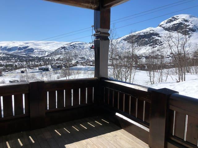 Flott leilighet mot bakken på Hovden alpin lodge