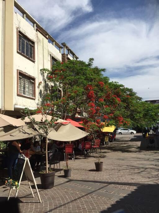 Plazoleta Juarez. El edificio se ubica en este andador