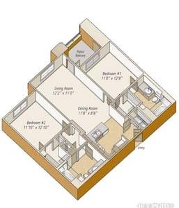 耳湾公寓合租 - 爾灣 - 公寓