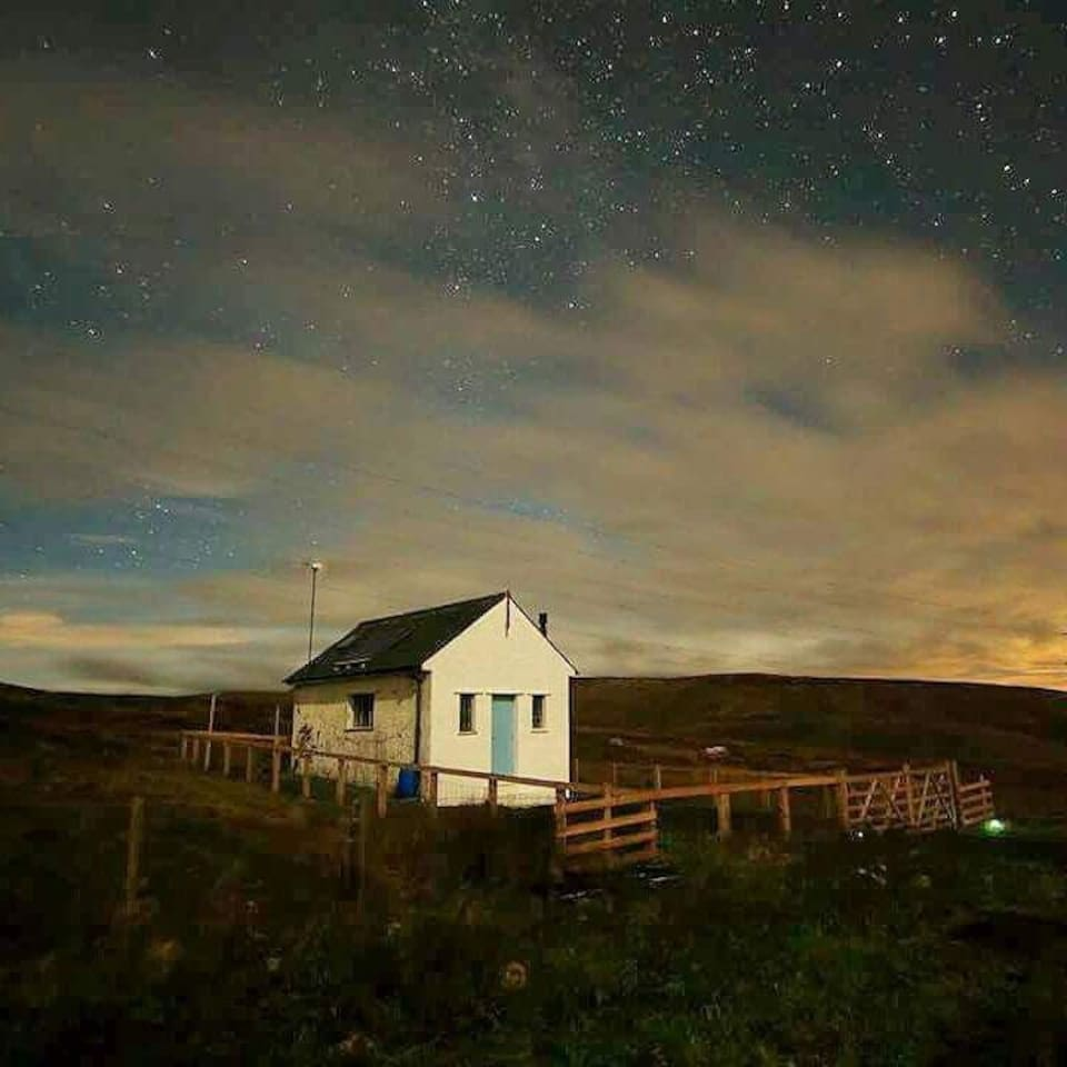 The bothy by moonlight