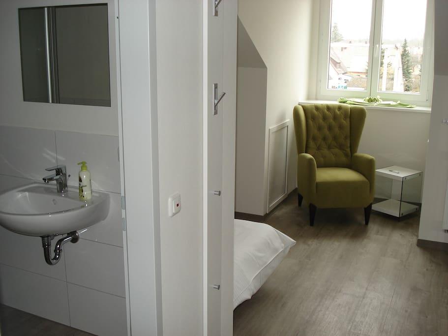 Einzelzimmer mit Alpenblick