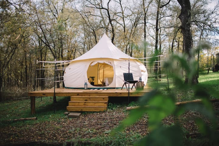 YURT #2 @ Green Acres Boutique Retreat - w/ AC - Elgin - Iurta