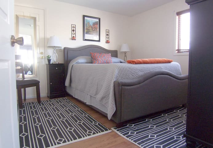 Queen size comfort for 5-Star rest & relaxation with plenty of extra pillows and blankets to choose from.