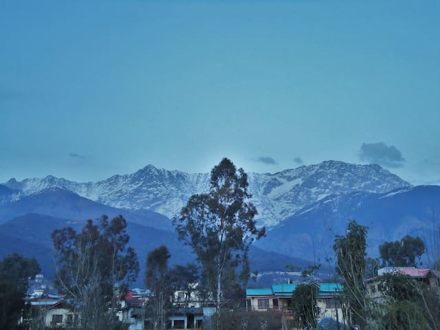 mighty DHAULADHARS as seen from the place