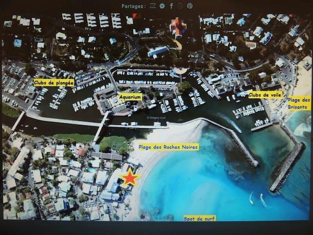 «THE BEACH HOUSE»  STUDIO/ MAGNIFIQUE VUE OCÉAN