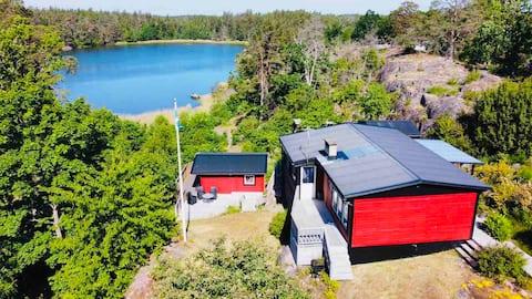 Rekreační dům u moře s panoramatickým výhledem na záliv