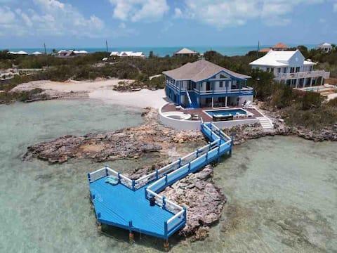 Villa Patina: Chalk Sound w/Dock & Private Beach