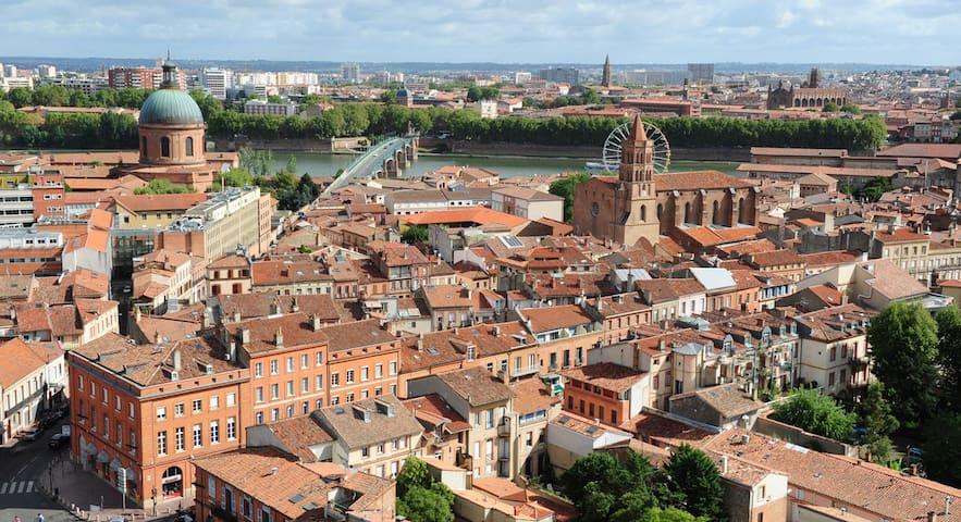 Chambre calme dans appart agréable  proche centre - Toulouse - Lägenhet