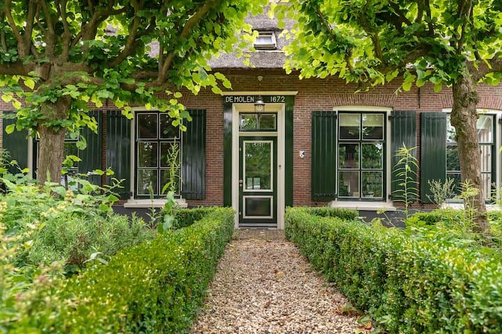 Charming restored miller's farmhouse near Utrecht