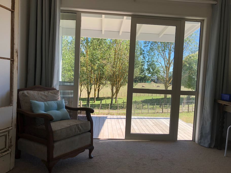 Looking out of lounge