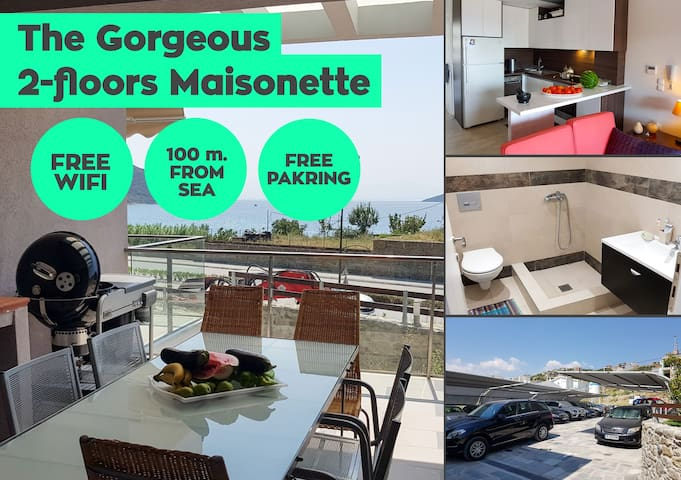 Gorgeous Maisonette & Free Parking, 100m from sea