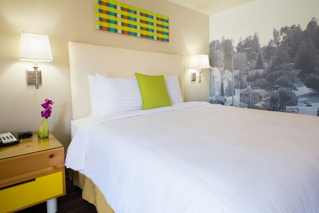 Comfortable new beds and linen