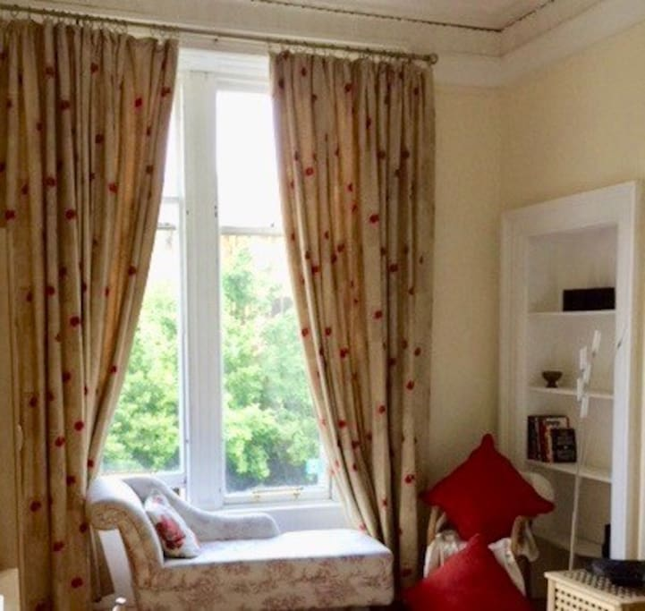 Chaise Longue at window in bedroom