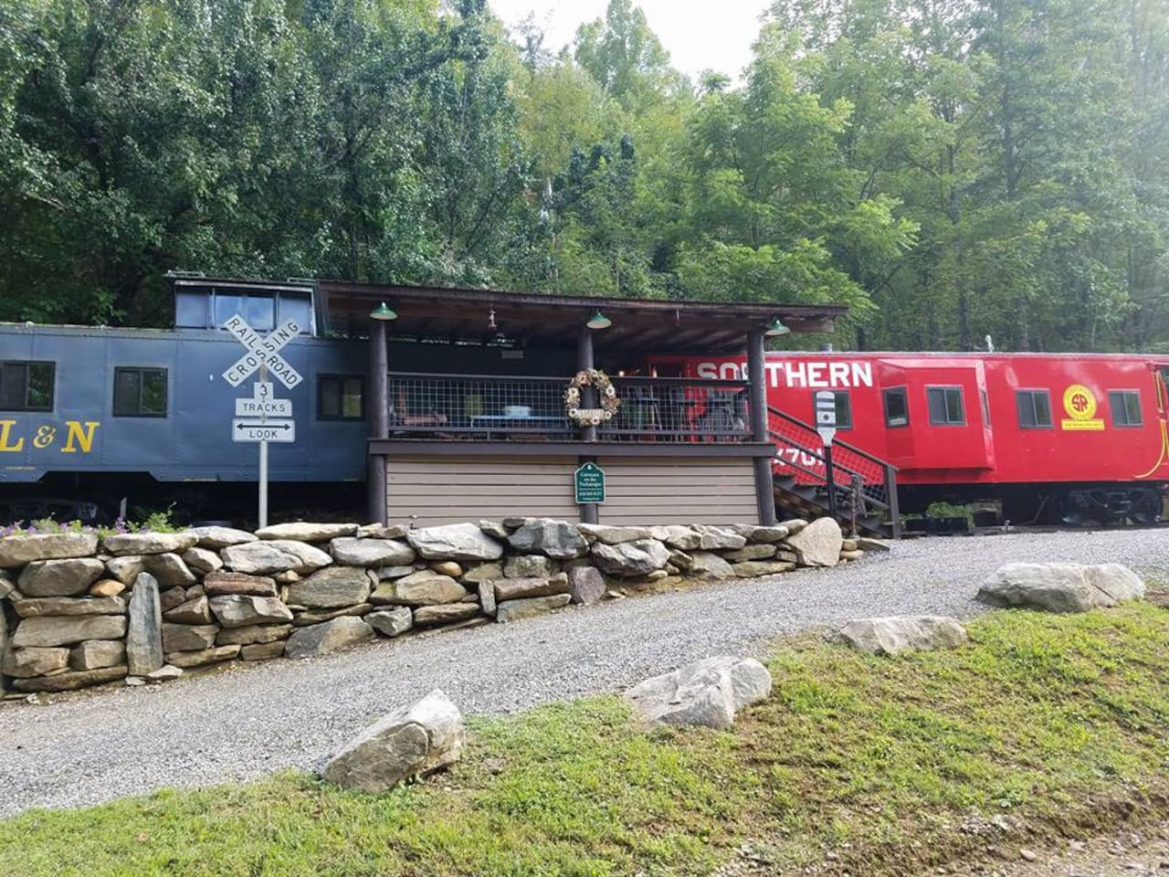 Two fully renovated cabooses made into one cozy vacation spot.