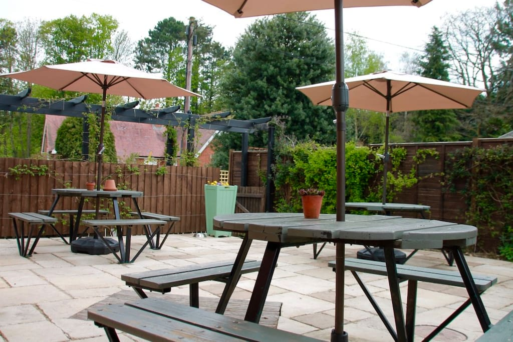 Our beautiful patio, perfect for summertime dining