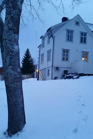 Our home in the winter