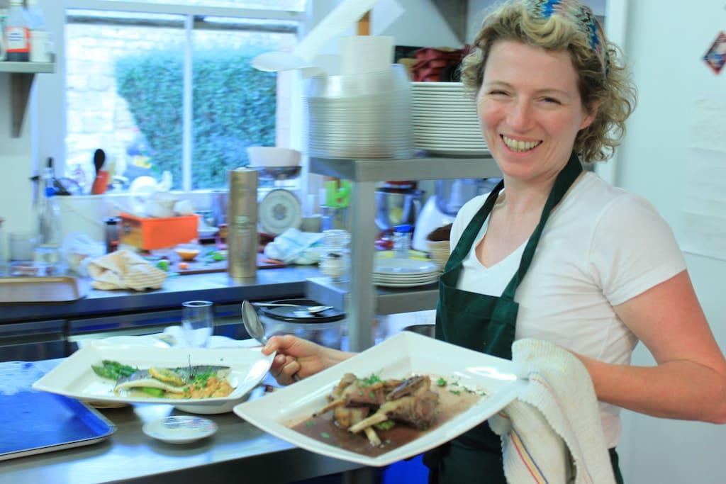 Jane in the kitchen