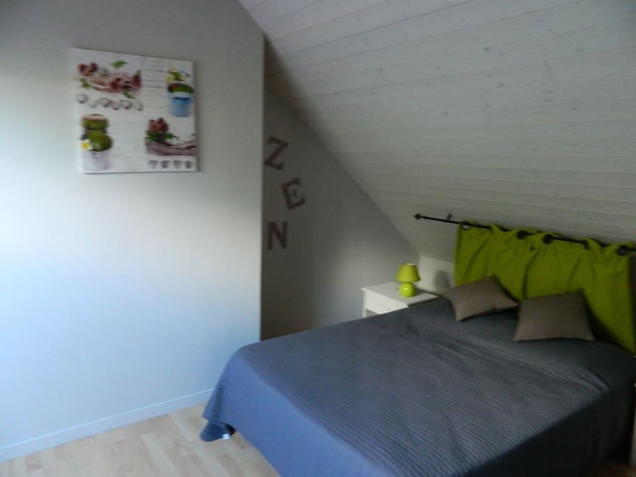 chambre Zen , lit 2 places avec salle de bain