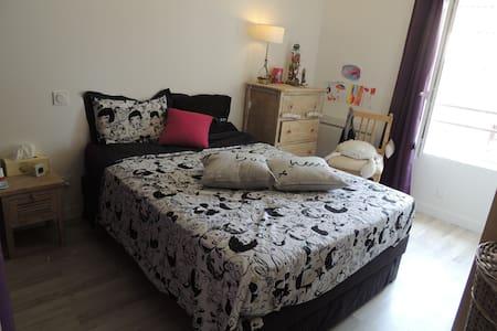 Chambre dans petite maison + jardin - Cailloux-sur-Fontaines