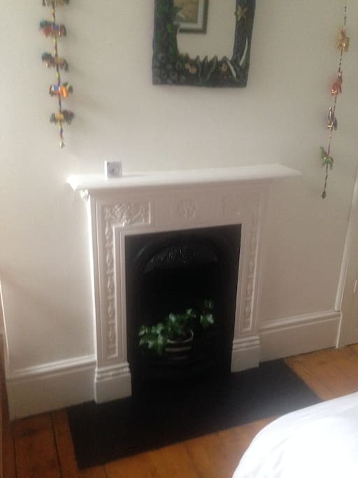Feature fireplace.
