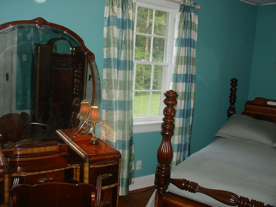 Room is furnished in 1940's Waterfall style furniture