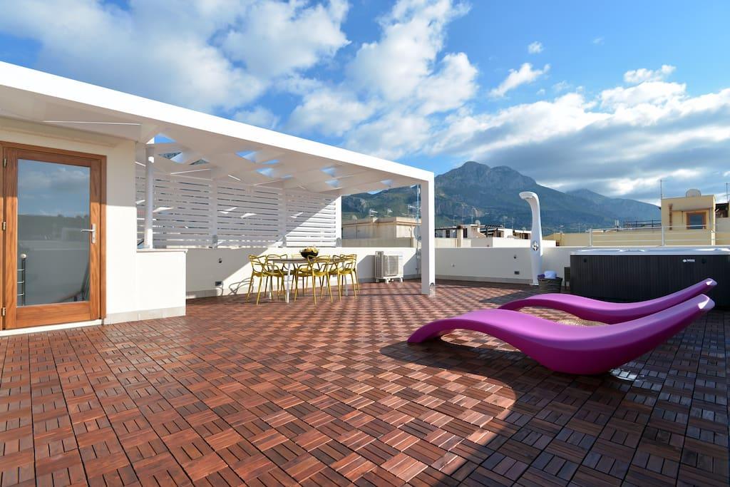 Mira7 - Wellness Spa in Terrazza Solarium - San Vito Lo Capo - 600mt dalla spiaggia