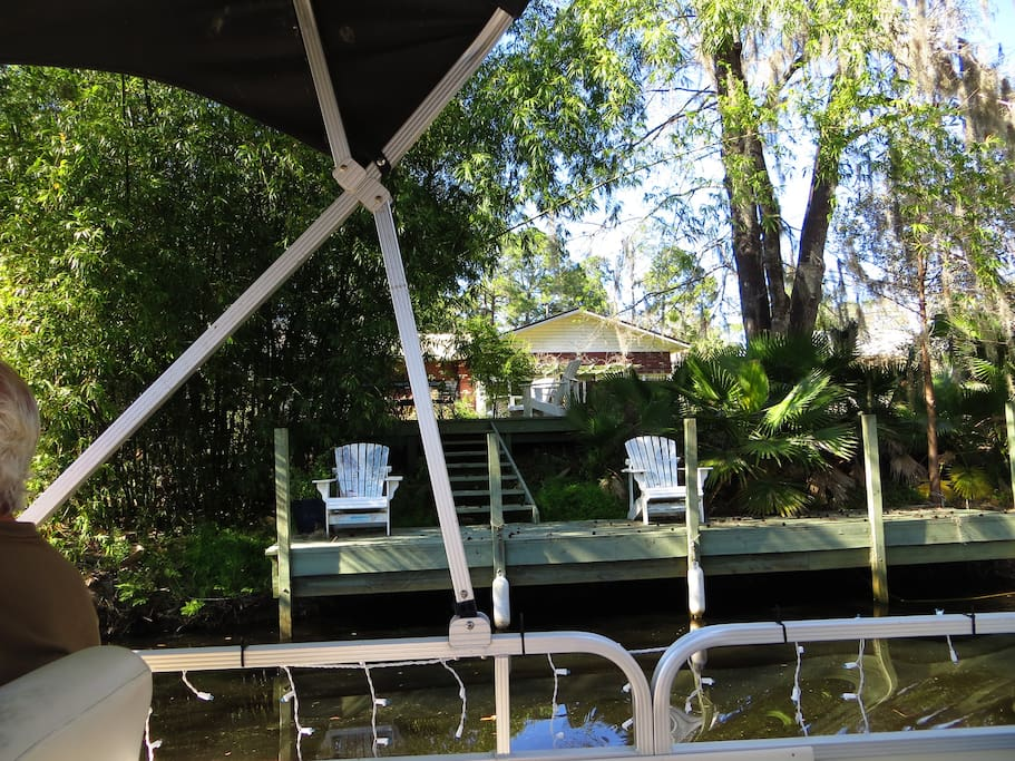 Deck and dock from boat