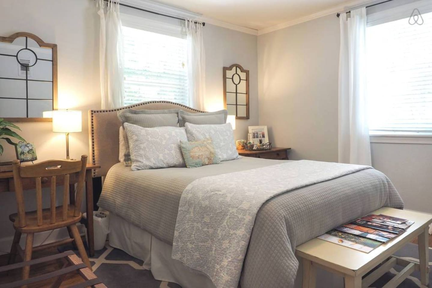 Bedroom 1 with a comfortable queen bed.