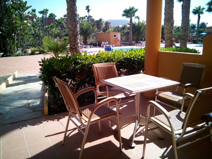 Charming Flat,pool,patio,200mt bech, Powerful WIFI