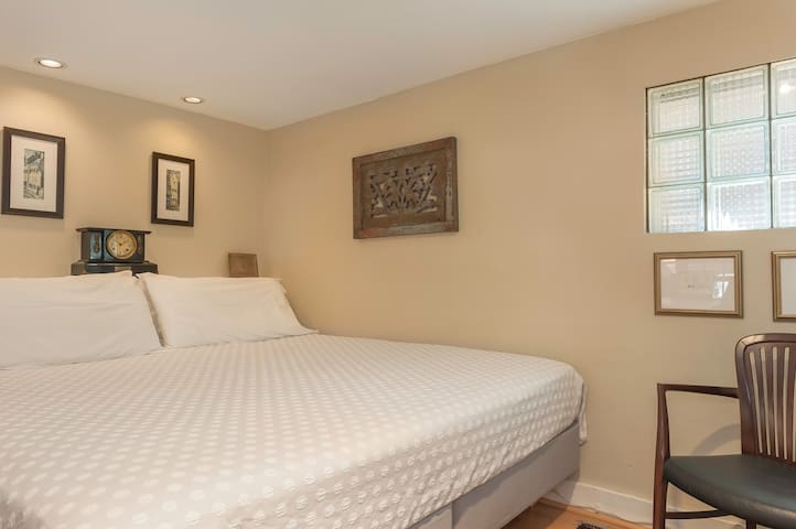 Sleeping alcove with King size bed