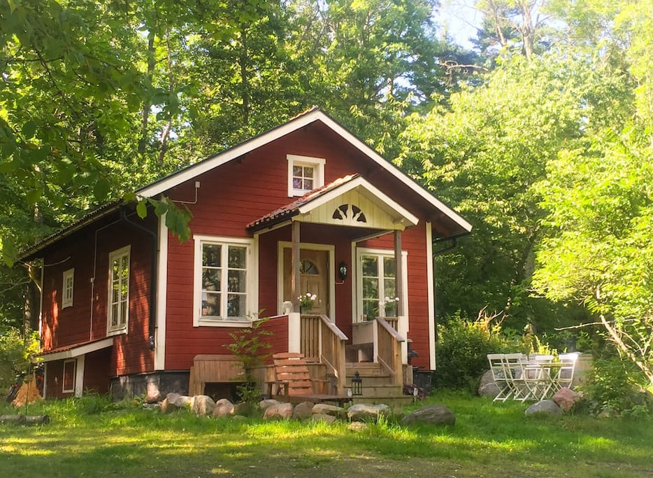 Cottage in summertime.