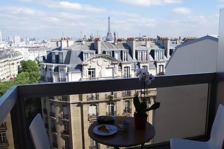 Charmant studio , vue Tour Eiffel - Paris - Apartment