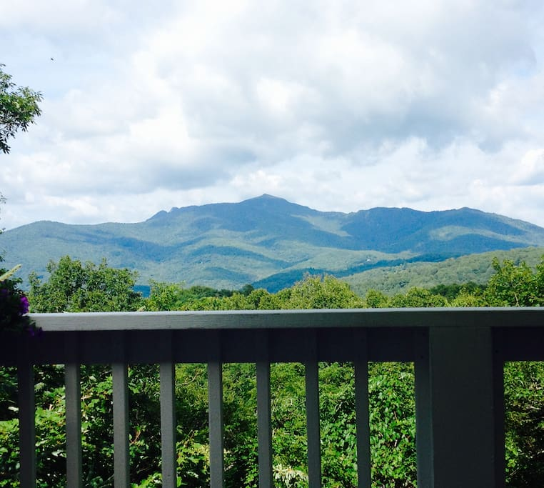 A view of Grandfather Mountain from the deck.