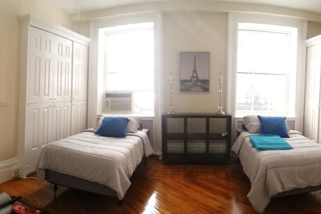 The same shared bedroom, different  angle