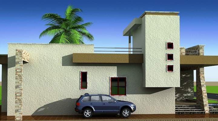 Villa 200 sq meters in 800 m Land