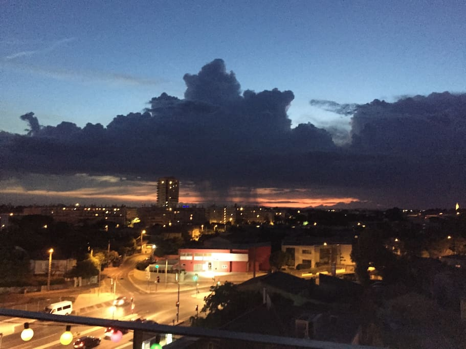 Night Balcony View