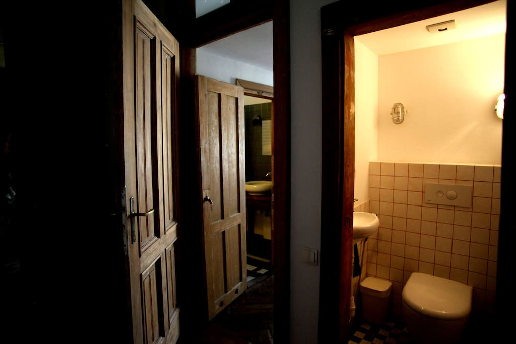 Entrance to the bedroom and toilet