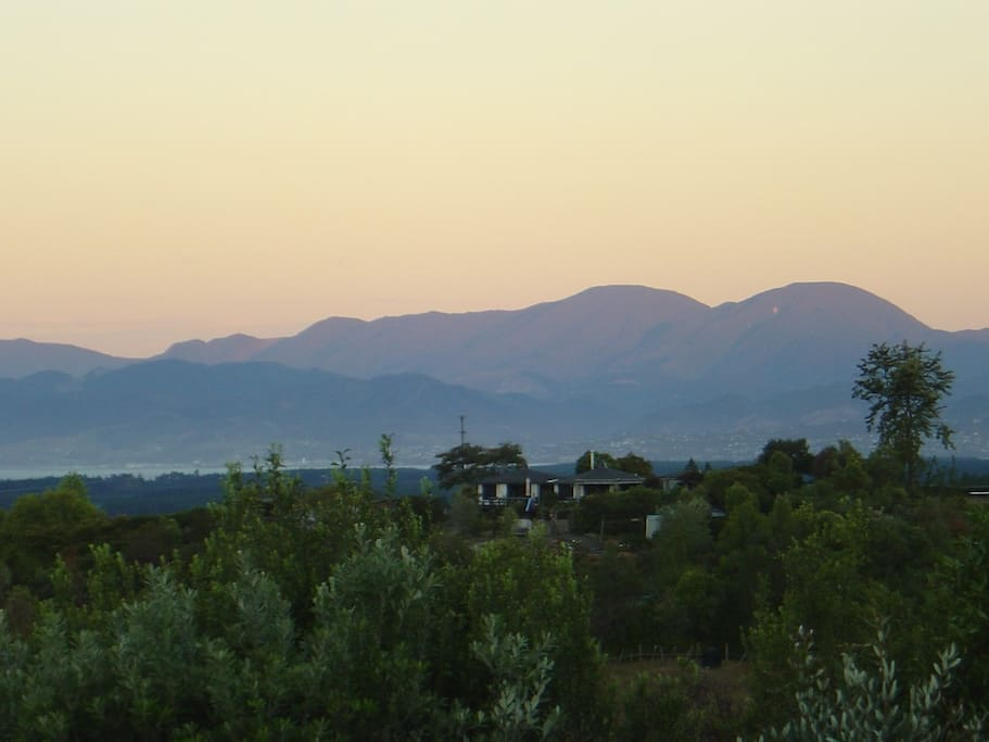 View of Nelson ranges from our property