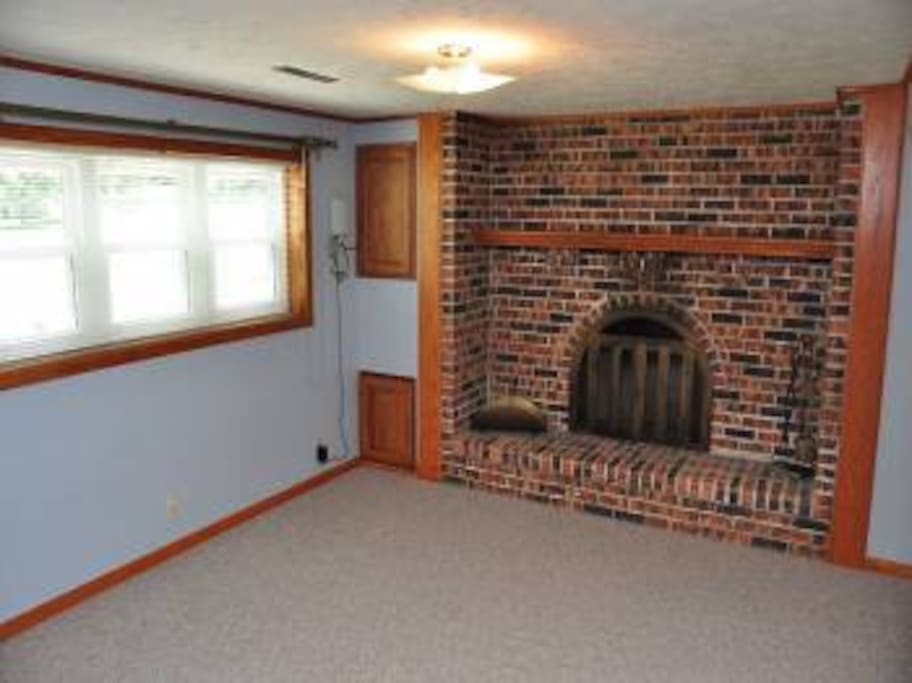 Fireplace in basement