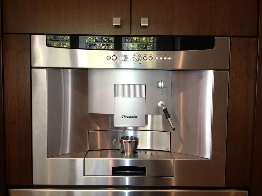 Built-In Fully Automated Espresso/Cappuccino Machine.  Good Morning!  :-)