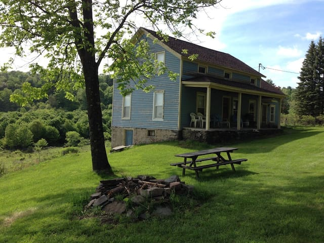 Secluded Farmhouse 140Acre+SwimPond 1.3mile 2 Town
